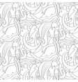 abstract wedding seamless pattern vector image vector image