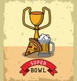 american football bowl tournament vector image vector image