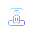 baggage weight gradient linear icon vector image