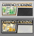 banners for currency exchange vector image