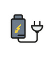 battery charger electric plug icon vector image