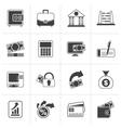 Black Bank business and finance icons vector image vector image