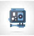 Blue action camera flat vetor icon vector image