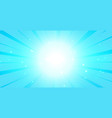 bright blue glowing background with lcenter light vector image