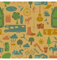 Camping outdoors hiking seamless Pattern vector image vector image
