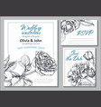 collection templates for wedding cards vector image vector image
