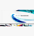 collection wave abstract wallpaper vector image vector image