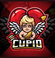 cupid esport mascot logo design vector image vector image