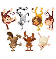 Different animals doing handstands vector image vector image