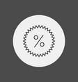 discount icon sign symbol vector image