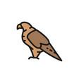 eagle falcon georgian national bird flat color vector image vector image