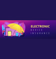 electronic device insurance concept banner header vector image vector image