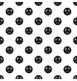 Evil smiley pattern simple style vector image vector image