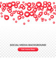 falling heart icon background red round symbol vector image vector image