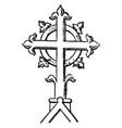 finial cross religion vintage engraving vector image vector image