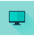 Flat pc icon over mint vector image vector image