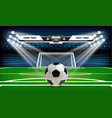 football or soccer playing field with set of vector image vector image