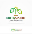 green sprout logo modern color style vector image vector image