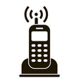 home radio telephone icon simple style vector image