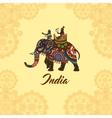 indian maharaja on elephant mandala ornament vector image vector image