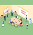 isometric business training educational vector image