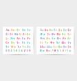 latin and cyrillic hand drawn alphabets vector image