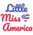 little miss america on white background vector image vector image