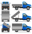 Lorry Icons Set 4 vector image vector image