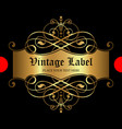 luxury ornamental gold label - vintage style vector image