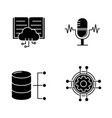 machine learning glyph icons set vector image vector image