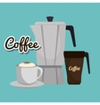 maker coffee cup fresh and hot graphic vector image vector image