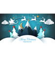 merry christmas happy new year - paper vector image vector image