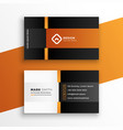 modern professional geometric business card vector image vector image