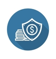 Money Protection Icon Flat Design vector image vector image