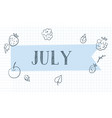 month journal banner vector image vector image