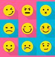 mood change icons set flat style vector image vector image