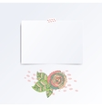 Mosk up template of empty greeting card vector image
