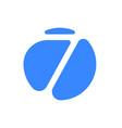 number 7 seven font logo blue icon vector image