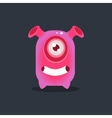 Pink Alien With Funnel Ears vector image vector image