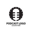 podcast logo designs simple and modern vector image