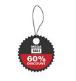 price tag mega sale 60 discount image vector image vector image