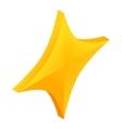 Quadrangular star icon isometric 3d style vector image