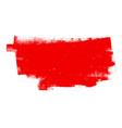 red grunge banner vector image