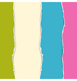 Retro Colorful Torn Paper Background vector image