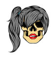 scary art work women skull with the vector image vector image