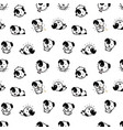 seamless pattern with cute puppy dog vector image vector image