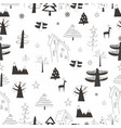 seamless pattern with village in forest on a vector image vector image