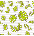 seamless summer pattern bright cute cartoon style vector image vector image