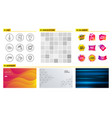 search files debit card and fragile package icons vector image vector image