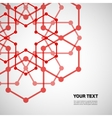 Set for design in molecules abstract style vector image vector image